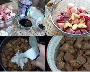 Adobong Baboy Sa Gata Recipe