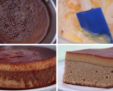 Coffee Leche Flan Cake Recipe