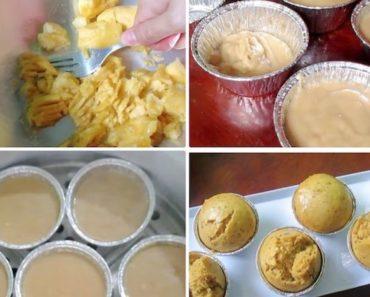 Steamed Banana Cupcake Recipe