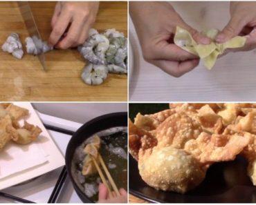 Fried Pork & Shrimp Dumplings Recipe